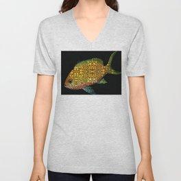 Tropical Fish Art 14 by Sharon Cummings Unisex V-Neck