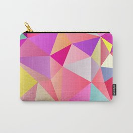 Pink Polygons Carry-All Pouch
