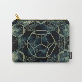 Sacred Geometry for your daily life -  Platonic Solids - ETHER Carry-All Pouch