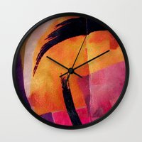 makeup Wall Clocks featuring Makeup by Cylena Young