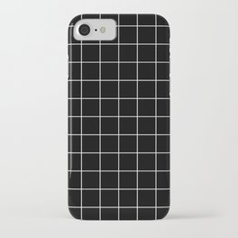 Grid Simple Line Black Minimalist iPhone Case