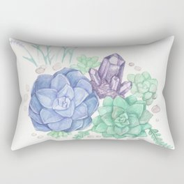 Botanical Succulents Rectangular Pillow