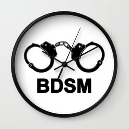 Text Bdsm and Handcuff image #P1419 Wall Clock
