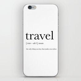 Travel Definition iPhone Skin