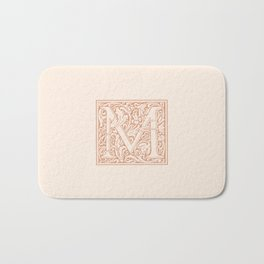 Monogram Letter M in Pink Bath Mat