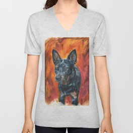 Dog Portrait Unisex V-Neck