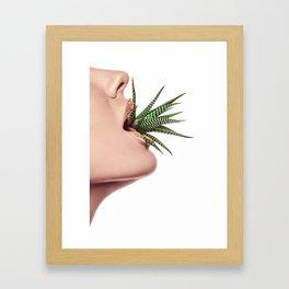 Flower Mouth - Aloe Framed Art Print