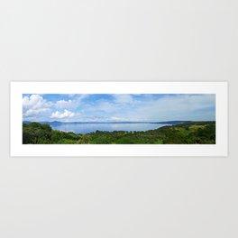 Lake Bracciano Panorama Art Print