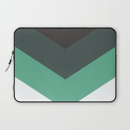 Sage Chevron Stripes Laptop Sleeve