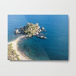 Beautiful island Taormina Metal Print