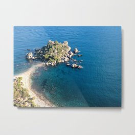 Beautiful island Taormina Metal Print
