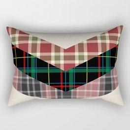 Ivory black pink marsala red geometrical chevron plaid pattern Rectangular Pillow