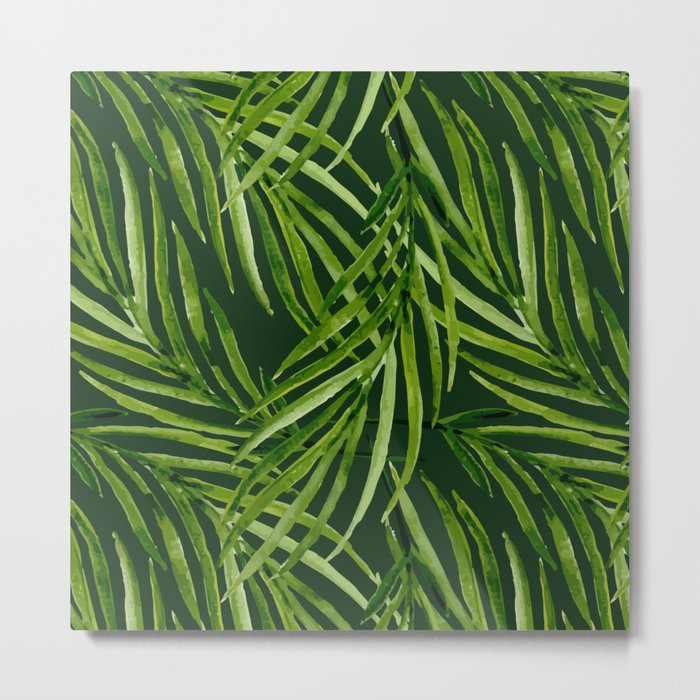 Tropical leaf pattern Metal Print