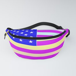 America the Beautiful Flag Pink Fanny Pack