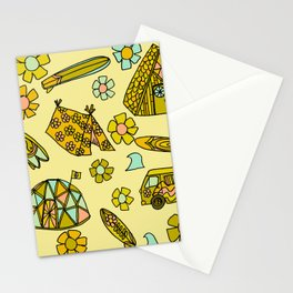 wanderlust // dream homes among the waves // surfy birdy art Stationery Cards