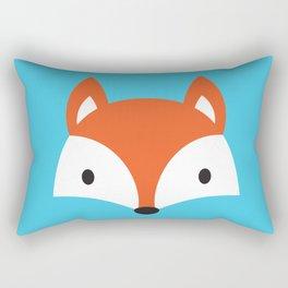 Cute Fox / Blue / Orange Rectangular Pillow