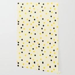 Bee Polka Wallpaper