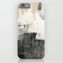 Peace and Quiet [1]: a pretty, minimal abstract piece in gray and peach by Alyssa Hamilton Art iPhone Case