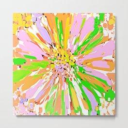 Spring Dahlia Abstract Flower Metal Print