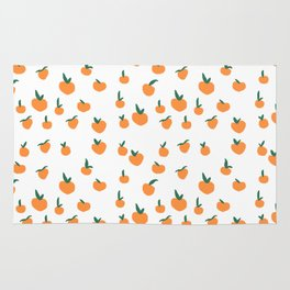 Orange Peaches Rug