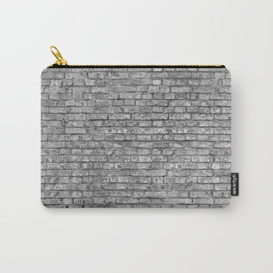 Vintage Brick Wall Carry-All Pouch