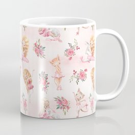 Little Ballerina and Cat dance Coffee Mug