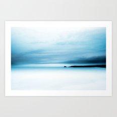 cool blue sea Art Print