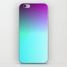 Six Color Ombre Cyan, Purple, Green, Pink, Purple, Blue, Spectrum Flame iPhone Skin