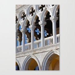 Doges Palace facade details Canvas Print