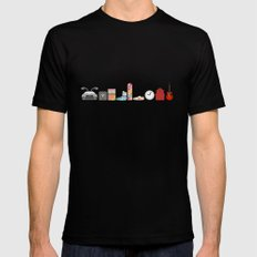 Back to the Future - Iconic Props X-LARGE Mens Fitted Tee Black