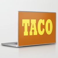 taco Laptop & iPad Skins featuring Taco by Book Ink Boutique