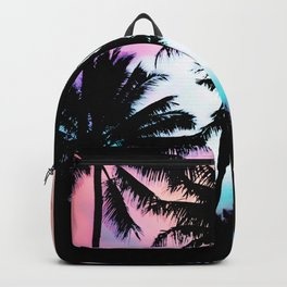 Sunset Summer Palm Trees Backpack