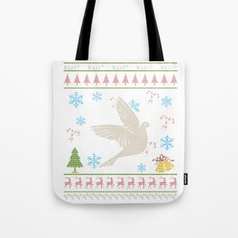 Dove Bird Christmas Ugly Holliday Shirt Tote Bag