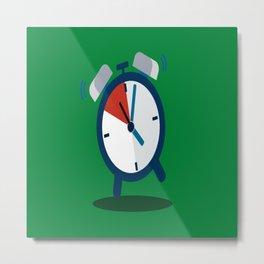 alarm clock weker time red blue green Metal Print