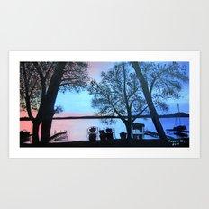 Buffalo lake at night Art Print