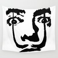 salvador dali Wall Tapestries featuring salvador dali by b & c