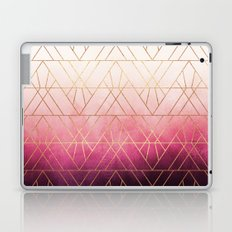 Pink Ombre Triangles Laptop & iPad Skin