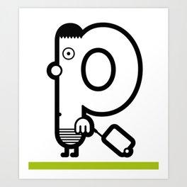 ABC: P Art Print