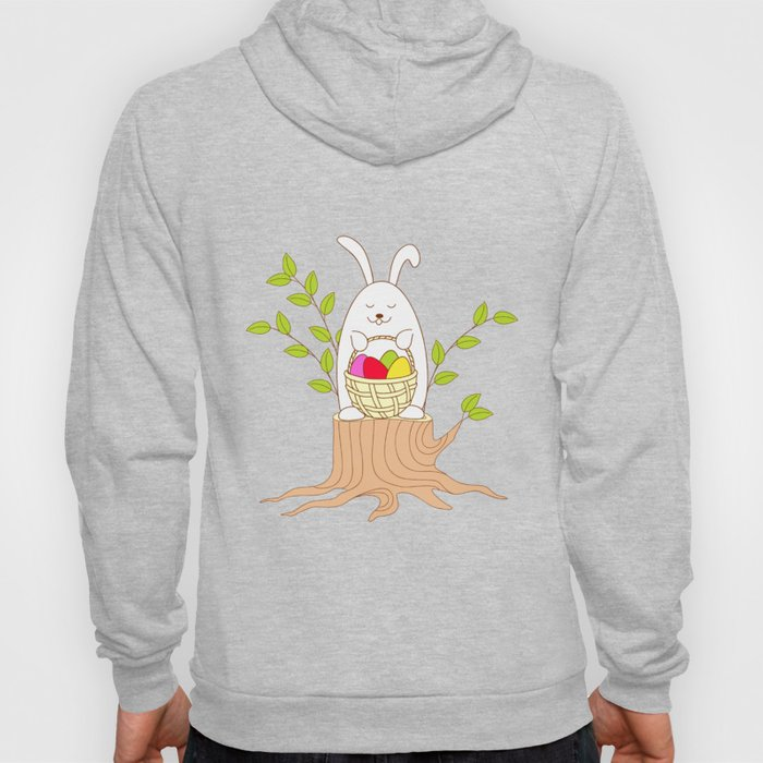 funny rabbit on the stump Hoody