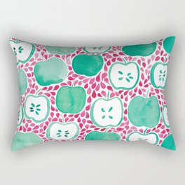 Watercolour Apples | Original Red and Green Palette Rectangular Pillow