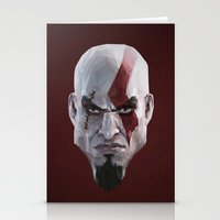 video games Stationery Cards featuring Triangles Video Games Heroes - Kratos by s2lart