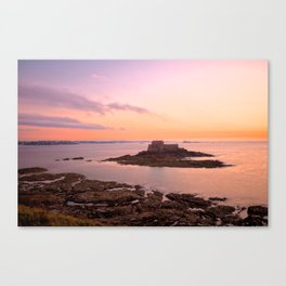 Saint-Malo Twilight Coast Canvas Print