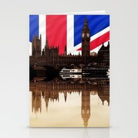 british flag Stationery Cards featuring British politics by Shalisa Photography