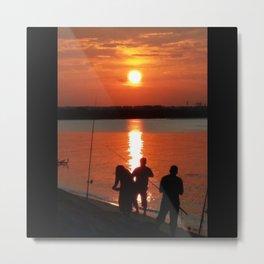 UNDER THE SETTING SUN Metal Print