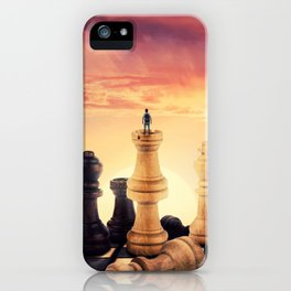 the rise of a chess player iPhone Case