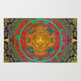 Aztec Sun God Rug