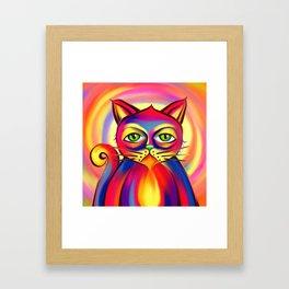 Psycho Cat Framed Art Print