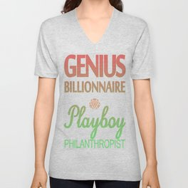 GENIUS TONY Unisex V-Neck