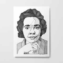 Coretta Scott King Metal Print