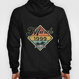 Vintage March 21 Year 1999 21st Birthday Gift Hoody